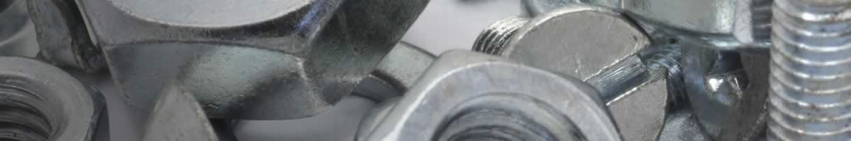 Close-up of metal nuts and bolts